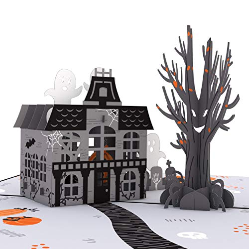 Lovepop Haunted House Pop Up Card - 3D Cards, Halloween Cards Pop Up Haunted House, Pop Up Halloween Cards, Halloween Greeting Cards