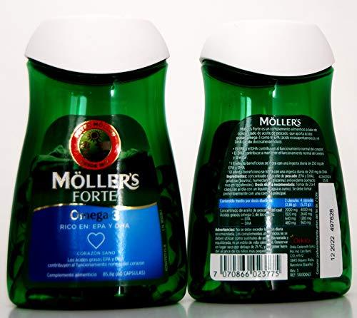 Mollers Forte Omega-3; 60capsulas de 1gr.- PACK 2UN. -UE-Compatible
