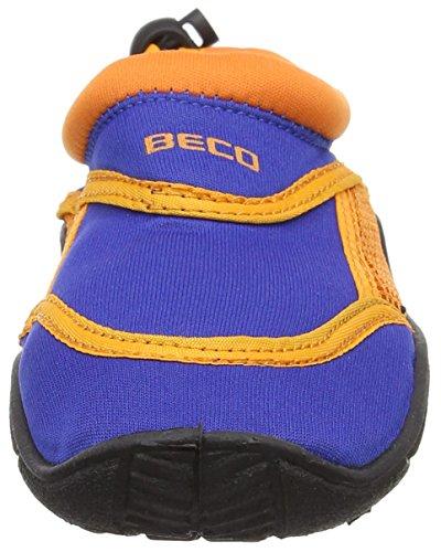 BECO Badeschuhe, Surfschuhe für Kinder,  blau, orange - 2