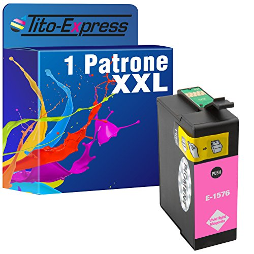 1 x Cartuchos de Tinta XXL (Light Magenta para Epson Stylus Photo R3000 te1576 platinumserie