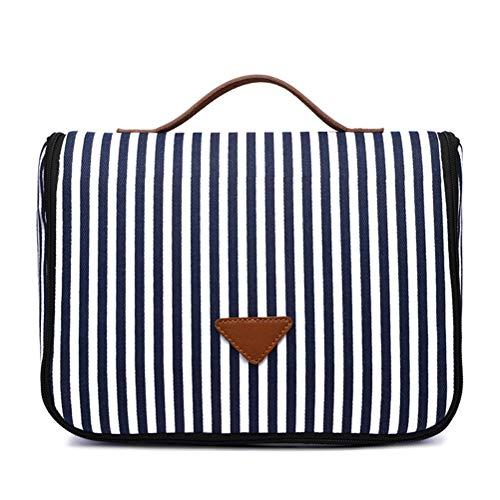 TENDYCOCO Womens Casual Canvas Handtaschen große Kapazität gestreifte Tragetaschen