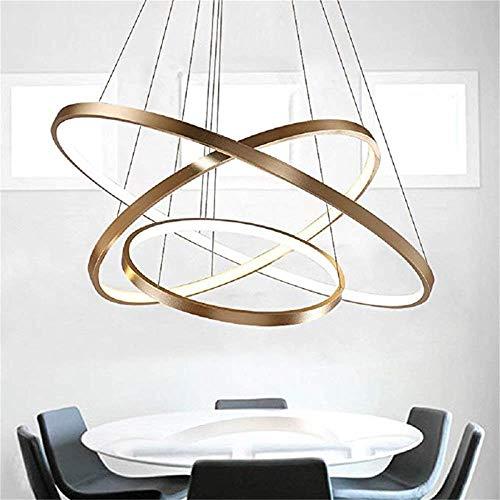 NSCHJZ Exklusiv Entwurf Modern Kronleuchter LED Deckenleuchte DREI Stufe Leuchter Aussehen Einstellbar LED Lichtquelle Integriert