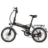 ANCHEER 20 Zoll E-Bike Pedelec, Faltbares Elektrofahrrad Elektrisches Fahrrad mit 48V 10.4Ah/ 36V 8AH Lithium Akku, Shimano 7-Gang Getriebe, 350W / 250W Motor (20' schwarz-8Ah 250W)