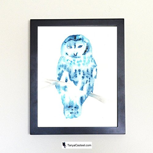 Barred Owl Spirit Animal Art Print from Watercolor Painting