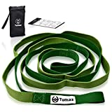 Tumaz Stretch Strap - 10 Loops & Non-Elastic Band - The Perfect Stretching Strap for PT(Physical Therapy), Yoga, Workout, Pilates, Dance - [Extra Thick, Durable, Soft - Comes with Travel Bag]
