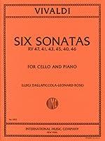 ヴィヴァルディ: チェロとピアノのための6つのソナタ F.XIV, n.1-6/インターナショナル・ミュージック社/ピアノ伴奏付ソロ楽譜