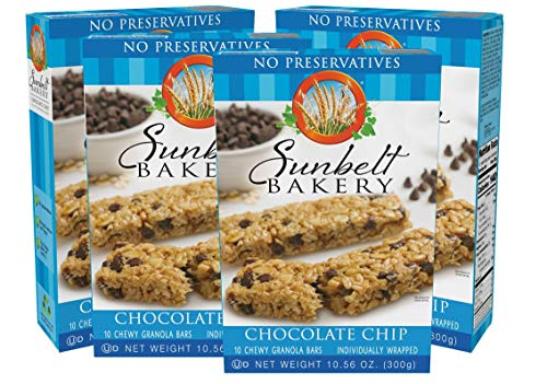 Sunbelt Bakery Chewy Chocolate Chip Granola Bars 40 Individually Wrapped Granola Bars, chocolate chip, 42.24 Ounce