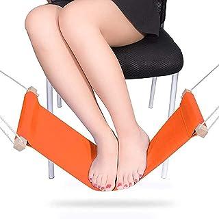 Foot Hammock Portable Adjustable Office Foot Rest, JUFEN Mini Under Desk Foot Rest Hammock for Home, Office Study and Rela...