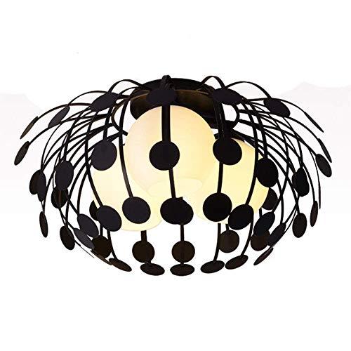 Candelabro, Luz de Techo nórdica Candelabro de Hierro Forjado Creativo Dormitorio Moderno Bar de Restaurante Iluminación Colgante Base E27, Luces de 3 Cabezas, 110V ~ 220V, Blanco