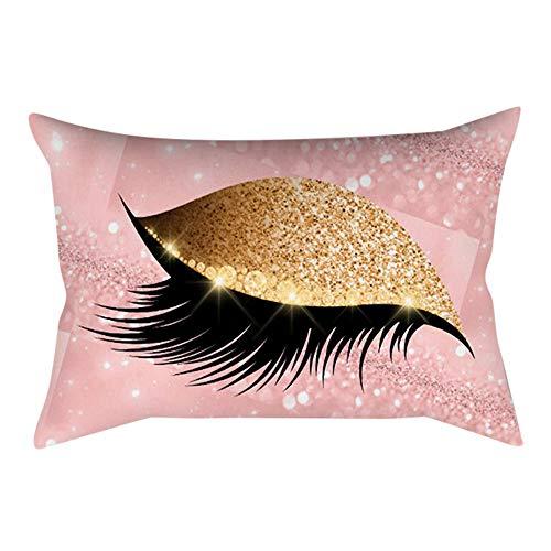 HUHU833 30x50cm Eyelash Out Soft Velvet Cushion Cover Marble Pillow Cases (P)