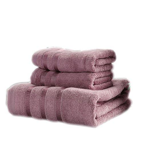 LI LU SHOP Handtuch, Baumwolle, Fitnessstudio Handtücher, Schwimmbad, Camping Sport Reisen, Paket Ab 3 (Farbe : 3#Purple)