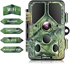 Campark WiFi Bluetooth Trail Camera 20MP 1296P, No Glow Night Vision Game Camera Motion Activated Hunting Camera, Waterproof IP66 for Monitoring Outdoor Wildlife Animal