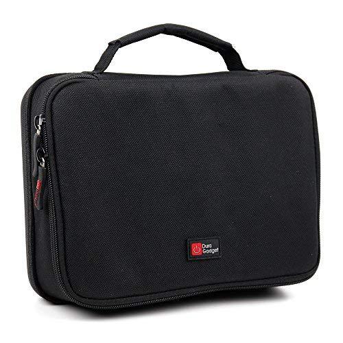 DURAGADGET Bolsa Imbotitta Negra con Interior Rojo para afeitadoras Braun Body Groomer BG5030, Braun Hair Clipper...
