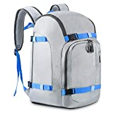 RESVIN Ski Boot Bag,50L Durable Travel Backpack,1680D Nylon Waterproof Snowboard Boots Bag, Men Women Skiing and Snowboarding Luggage for Ski Helmet, Goggles, Gloves, Outerwear & Accessories, Grey