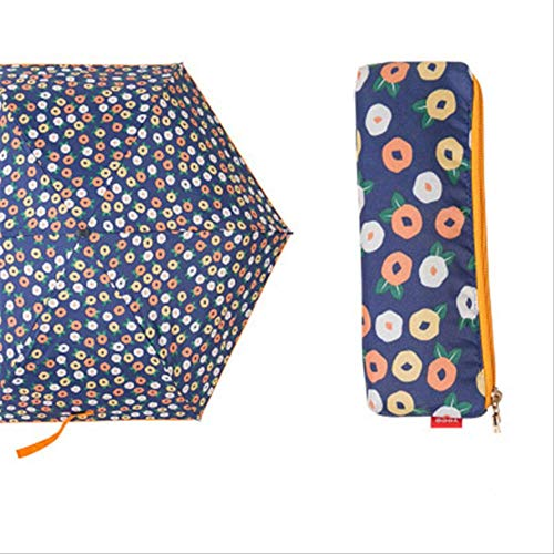 NJSDDB paraplu Exquisite cherry mini paraplu regen vrouwen vrouwelijke vinyl kleine tas paraplu kinderen ultra licht vouwen zwarte coating zonnescherm, Blauwe Kersen