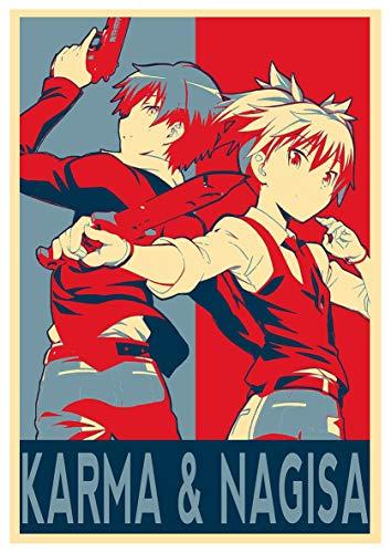 Póster Assassination Classroom'Propagandda' Karma & Nagisa 15x23' (38 x 58 cm) (380 x 580 mm)
