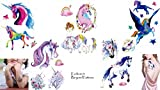 Niños Fiesta Tatuajes Unicornio y caballo Tatuajes Multicolor 5láminas Set