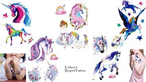 Lot de 5 tatouages licorne pour enfant