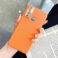 YCFACTORY 電話ケース レンズリング保護カバー付きVIVO Y3 / Y17 AllInclusiveピュアプライムスキンプラスチックケースのために 保護ケース (色 : オレンジ)