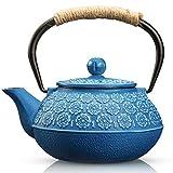 Cast Iron Teapot, Sotya Tetsubin Japanese Tea Kettle (900ML, dark...