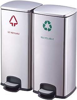 Kitchen Trash Can دواسة القمامة يمكن أن 60 لتر سعة كبيرة مستشفى الممر تصنيف ممر القمامة Trash Can