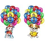 smileh Decoración Cumpleaños Patrulla Canina Globos Paw Dog Patrol Globos para Niños Globos Decoraciones de Fiesta 22PCS