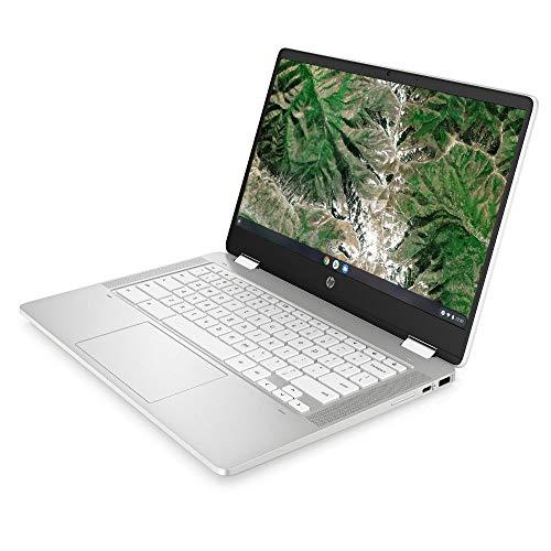 HP Chromebook x360 14a-ca0217ng (14 Zoll / HD Touch) 2in1 Convertible Laptop (Intel Celeron N4020, 4GB LPDDR4 RAM, 64GB eMMC, Intel UHD Grafik, Chrome OS, QWERTZ) weiß - 3