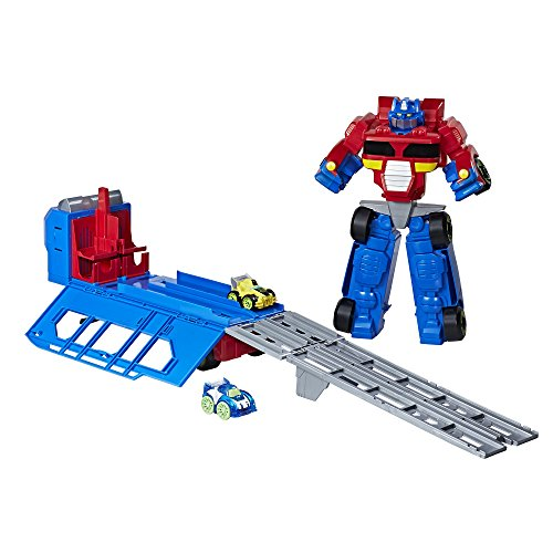Playskool Heroes Transformers RBT Optimus Prime Race Track Trailer Playset