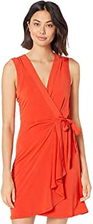 BCBGMAXAZRIA Women's Sleeveless Wrap Dress