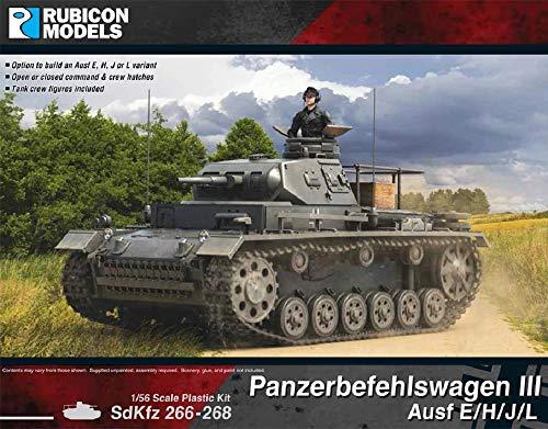 ルビコンモデル 1/56 ドイツ軍 3号指揮戦車 E/H/J/L型 プラモデル RB0093