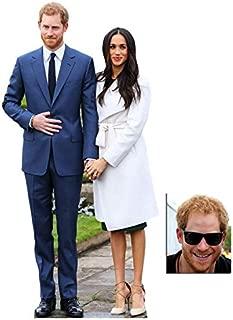 BundleZ-4-FanZ Fan Packs Commemorative Pack - Mini Prince Harry & Meghan Markle Royal Wedding 2018 Engagement Cardboard Cutout/Standup - Includes 8x10 Star Photo