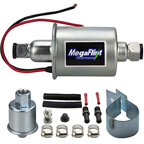 Megaflint+ E8012S 12V Universal Electric Fuel Pump Low Pressure 5-9 PSI For Gas Diesel Inline HEP-02A