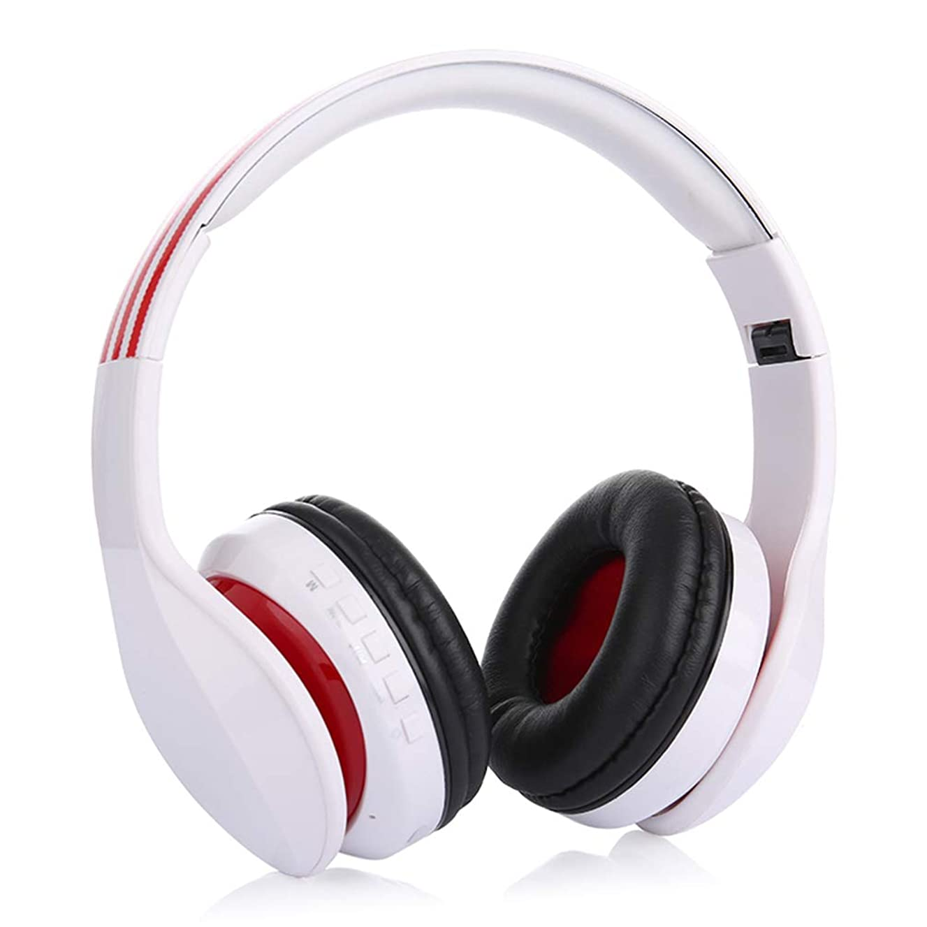 Wireless Bluetooth Over Ear Foldable Headphones Protein Leather Cushions Noise Cancelling Volume Control for Pc Phones Tv Tablet