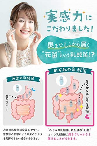 めぐみの乳酸菌乳酸菌ビフィズス菌6兆個27種の乳酸菌60粒30日分サプリメントオリゴ糖食物繊維タブレット
