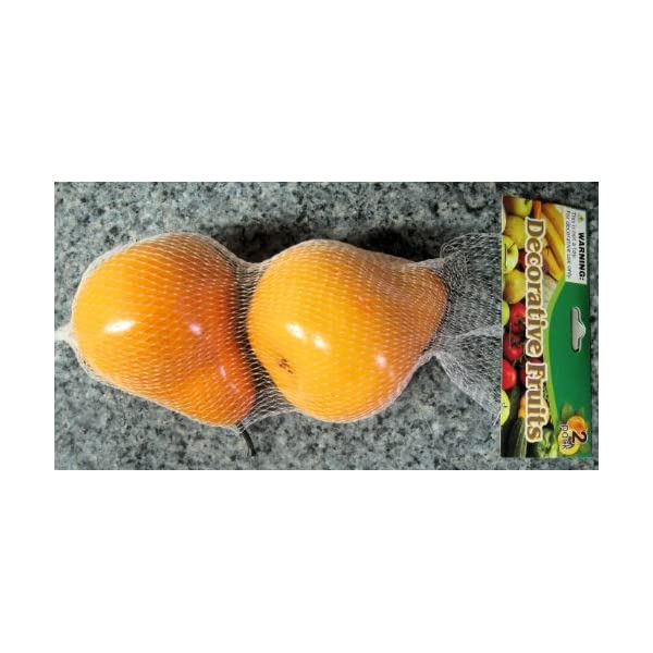 2 Pack Fake Pears Artificial Fruit