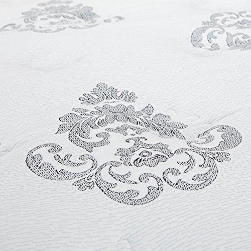 Classic Brands M   ercer Pillow Top Cool Gel Memory Foam and Innerspring Hybrid 12-Inch Mattress, Full, White