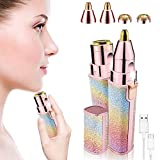 2 in 1 Eyebrow Trimmer & Facial Hair Remover for Women, Rechargeable Eyebrow Razor and Painless Hair Removal,...