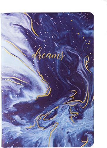 Eccolo World Traveler Style Journal Blue Dreams Notebook, 256 Lined Pages, 6x8