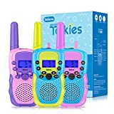Selieve Outdoor Toys for Kids Ages 4-8, Walkie Talkies for Children Long Distance 22 Channels 2 Way Radio Interactive Toys Birthday Gifts for 3-12 for Girls and Boys