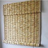 LKHG Persianas Enrollables De Bambú, Cortina De Caña Natural, Parasol De Persiana Elevable, Tratamiento De Bordes De Tela, Protección UV, Impermeable, Transpirable, Se Puede Personalizar