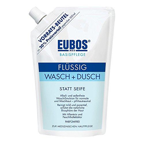 Flüssig Wasch + Dusch Spar-Set 2 x 400 ml Waschlotion statt Seife. Alkali- und seifenfrei, pH-hautneutral. Auch bei unreiner Haut