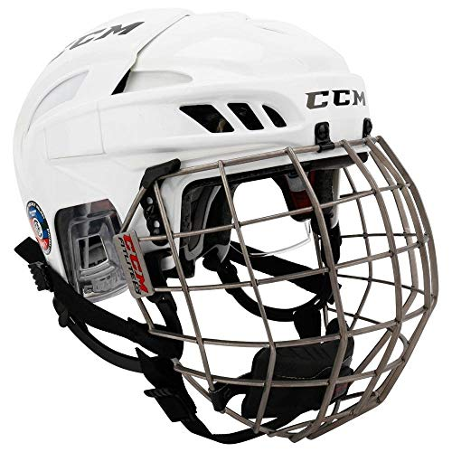 CCM Helm Fitlite 3DS Combo Junior, Weiss