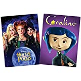 Family Halloween Double Feature 2-Pack DVD Collection: Hocus Pocus (DVD, 1993, Bette Midler, Sarah Jessica Parker) / Coraline (DVD, 2009, Tim Burton)