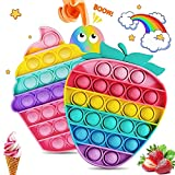 SPECOOL 2 Pack Push Bubble Sensory Fidget Toy, Arcobaleno Bubble Fidget Squeeze Giocattolo...