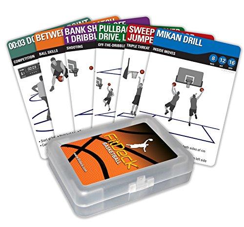 FITDECK Juego de Cartas de Ejercicio para Entrenamientos Deportivos guiados, Baloncesto