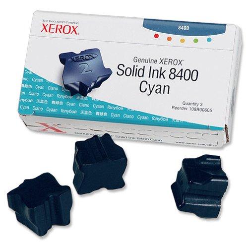 Xerox Cyan Solid Ink 3-pack Cian cartucho de tinta - Cartucho de tinta para impresoras (Cian, Laser, 131 g, 87 x 162 x 41 mm)