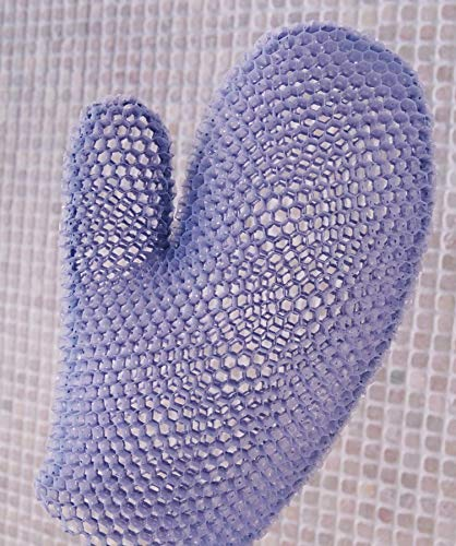 Supracor Spa Bath Mitt Body Exfoliator Face Antibacterial Scrub Sponge (Purple)