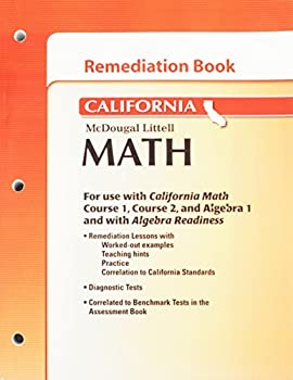Paperback McDougal Littell Middle School Math California: Remediation Book