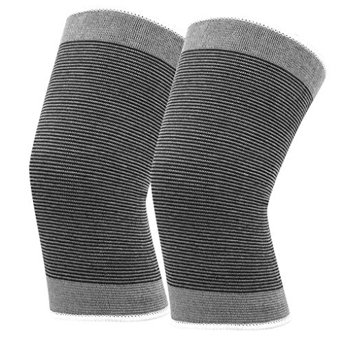 teng hong hui 1 Paar Sport elastische Knie Unterstützung Klammer Breath Klammer Kniestütze Feuchtigkeit Wicking Basketball Knee Guard Schutz Band