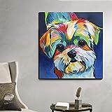 Perro acuarela pintura cuadros modernos arte mural carteles e impresiones decoración gráfica para el hogar